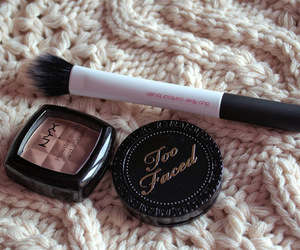 beauty, brush, and makeup image