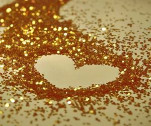 glitter, heart, and gold image