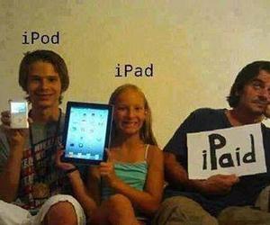 funny, ipod, and ipad image