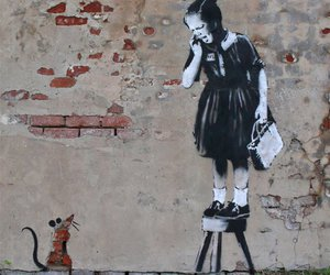 BANKSY, art, and mouse image