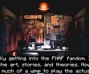 game, horror, and five nights at freddy's image