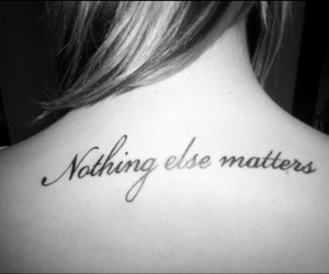 metallica, tattoo, and nothing else matters image