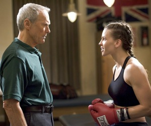 clint eastwood and million dollar baby image