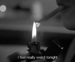 weird, cigarette, and black and white image