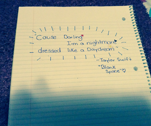blank space, darling, and nightmare image