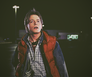 Back to the Future, michael j fox, and marty mcfly image