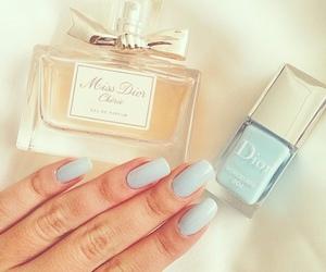 dior, nails, and blue image