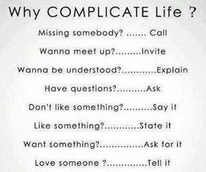 life, Relationship, and complicate image