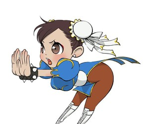 chibi, chun li, and street fighter image