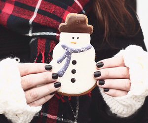 cookie, snowman, and scarf image