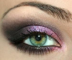 adorable, eye makeup, and girly image
