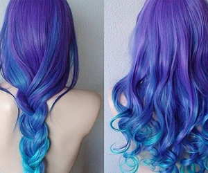 purple, blue, and braid image