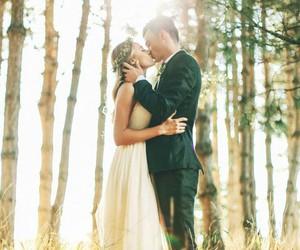 kiss, love, and wedding image
