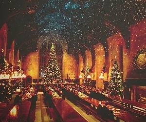 christmas, harry potter, and christmas tree image