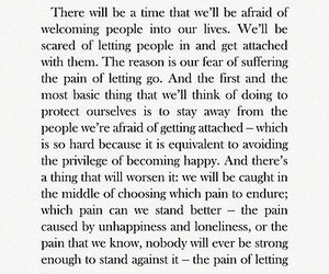 attached, fear, and pain image