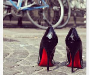 louboutin, shoes, and black image
