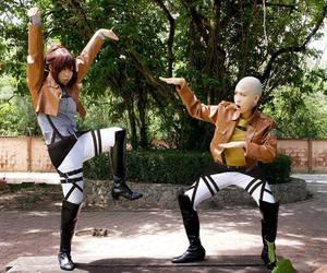 cosplay, shingeki no kyojin, and attack on titan image