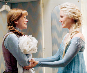 anna, once upon a time, and elsa image