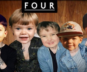 one direction, four, and baby image