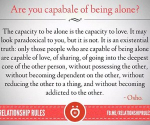alone, quote, and Relationship image