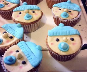 baby, boy, and cup cakes image