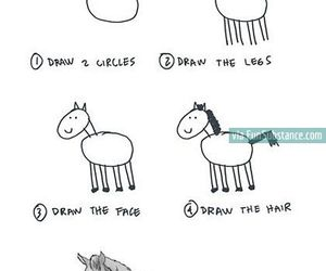 awesome, horse, and draw image