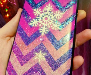 glitter, pink, and snowflake image