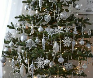 christmas, decor, and white image