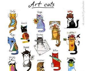 cat, art, and artist image