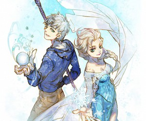 jack frost, snow, and jelsa image