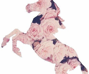 unicorn, flowers, and rose image
