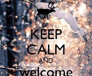 december, welcome, and keep calm image