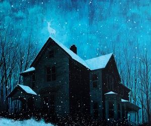 illustration, art, and house image