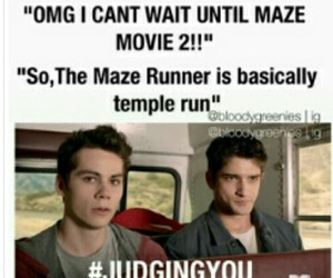 tyler posey, the maze runner, and dylan o'brien image