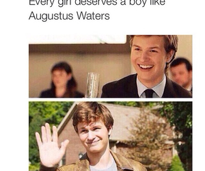 augustus waters, the fault in our stars, and tfios image