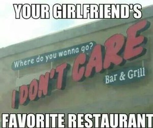 girlfriend, restaurant, and funny image