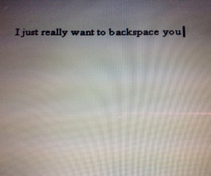 backspace, breakup, and her image