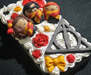 harry potter, cake, and deathly hallows image
