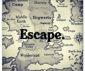 escape, hogwarts, and narnia image