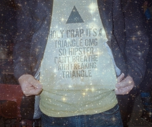 hipster, triangle, and funny image