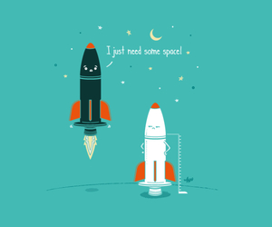 rocket, space, and funny image