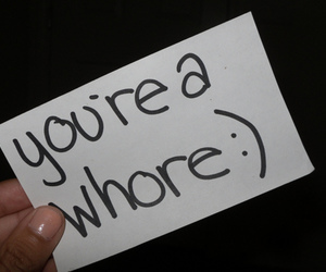 whore, text, and photography image