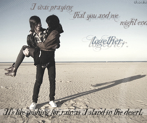 couple, desert, and together image