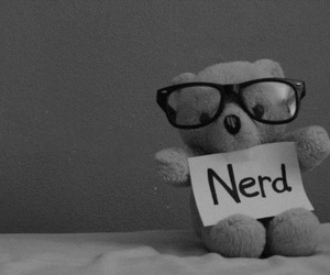 nerd, bear, and glasses image
