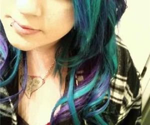 curls, teal, and green image