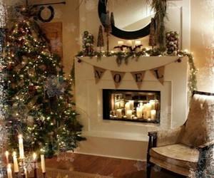 christmas, house, and candles image
