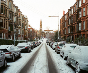snow, winter, and cars image