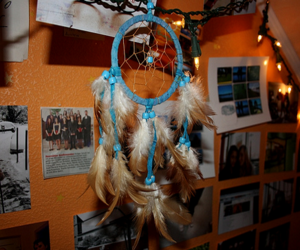 photography, blue, and dreamcatcher image