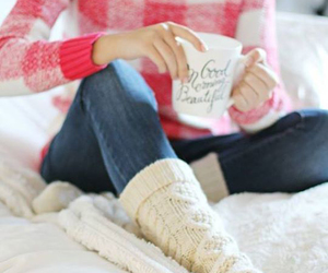 winter, coffee, and socks image
