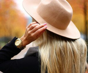 blonde, gold, and hat image